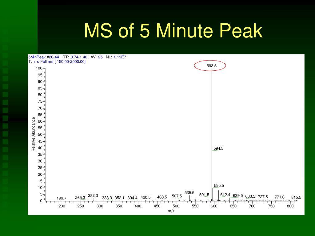 MS of 5 Minute Peak
