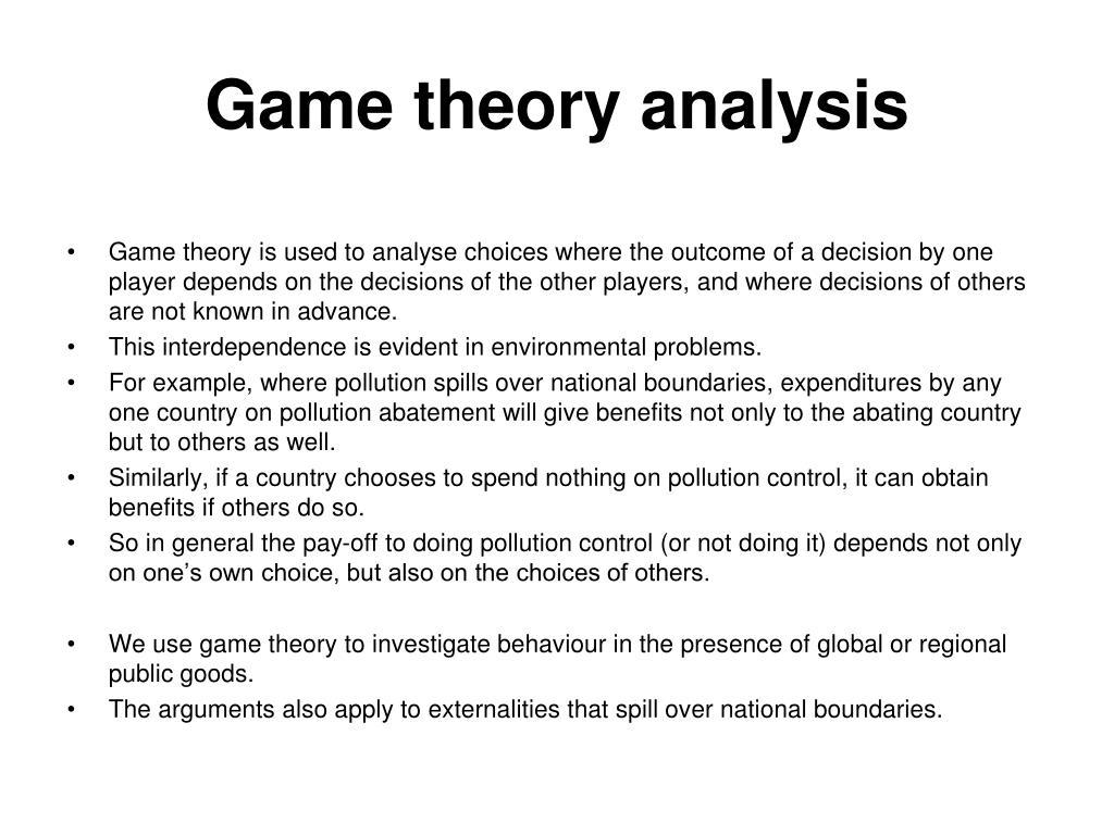 Game theory analysis