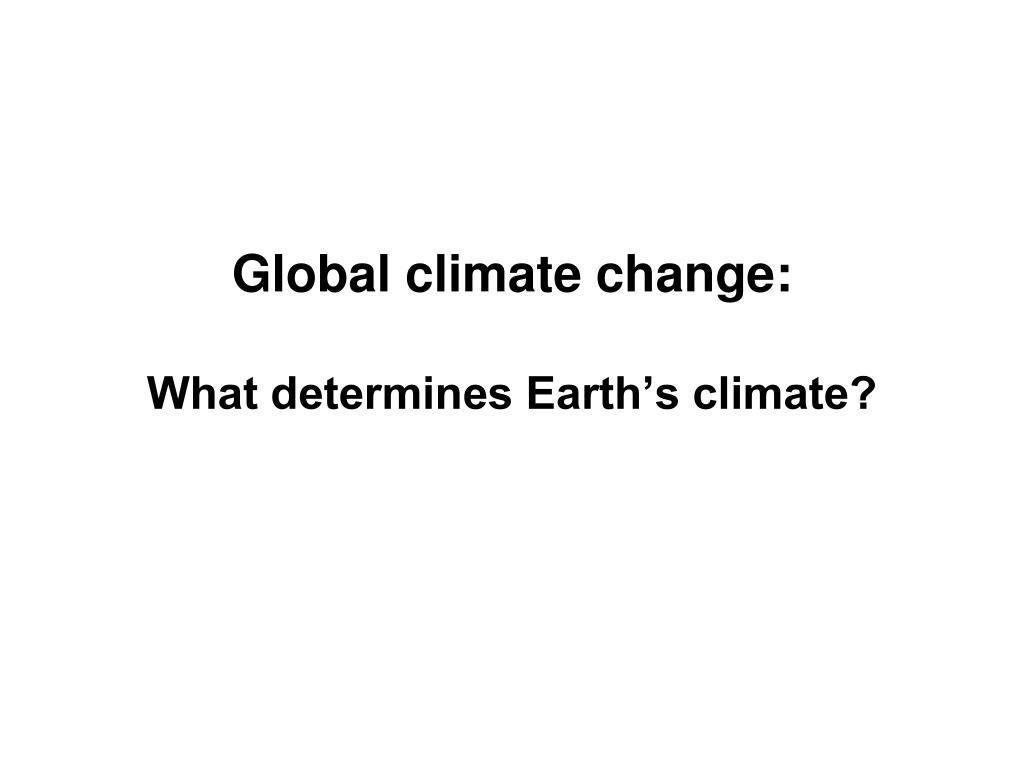 Global climate change: