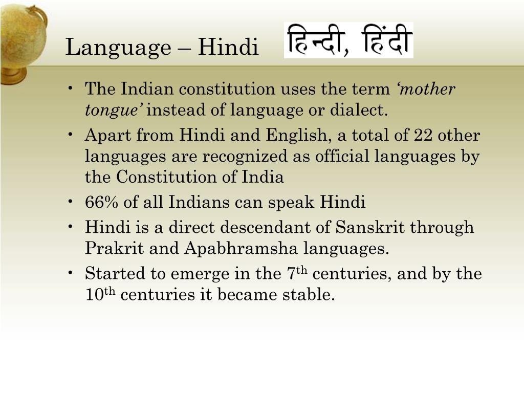 Language – Hindi