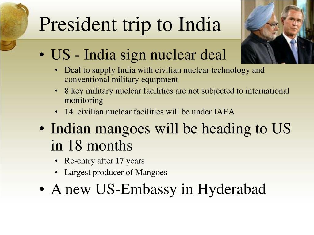 President trip to India
