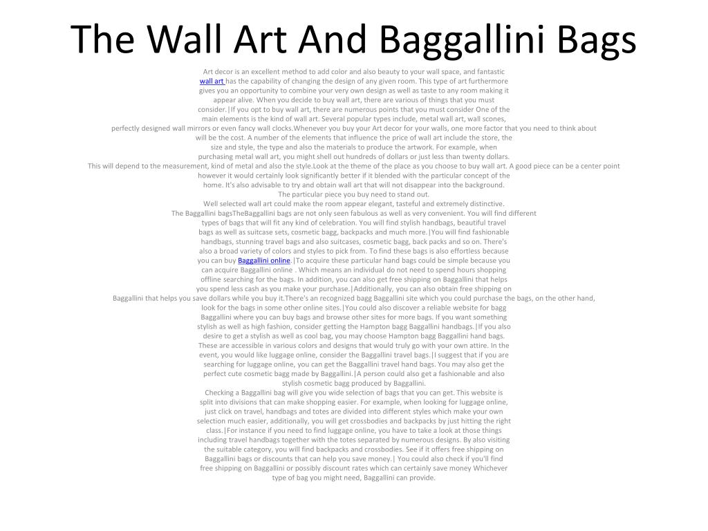 The Wall Art And Baggallini Bags