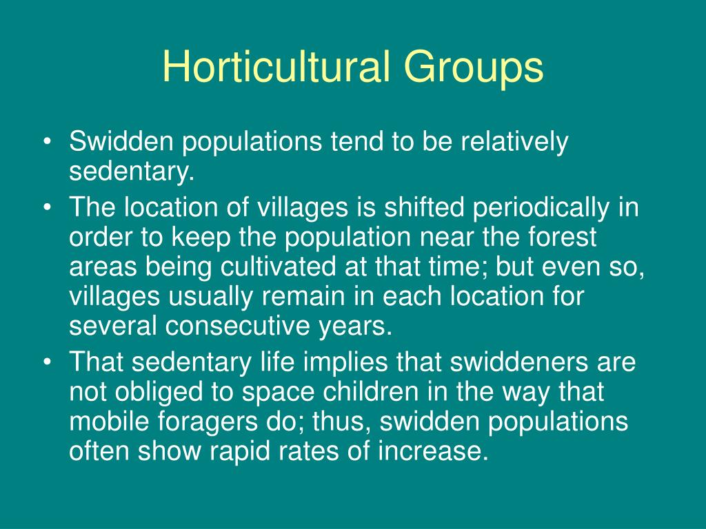 Horticultural Groups