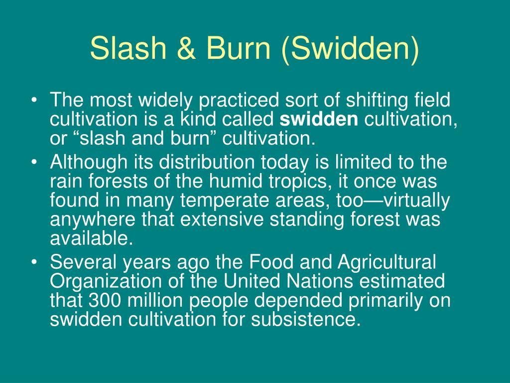 Slash & Burn (Swidden)