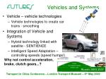 vehicles and systems