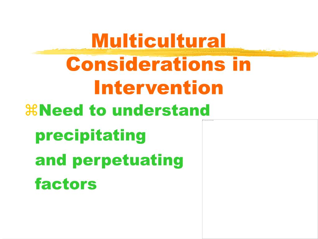 Multicultural Considerations in Intervention