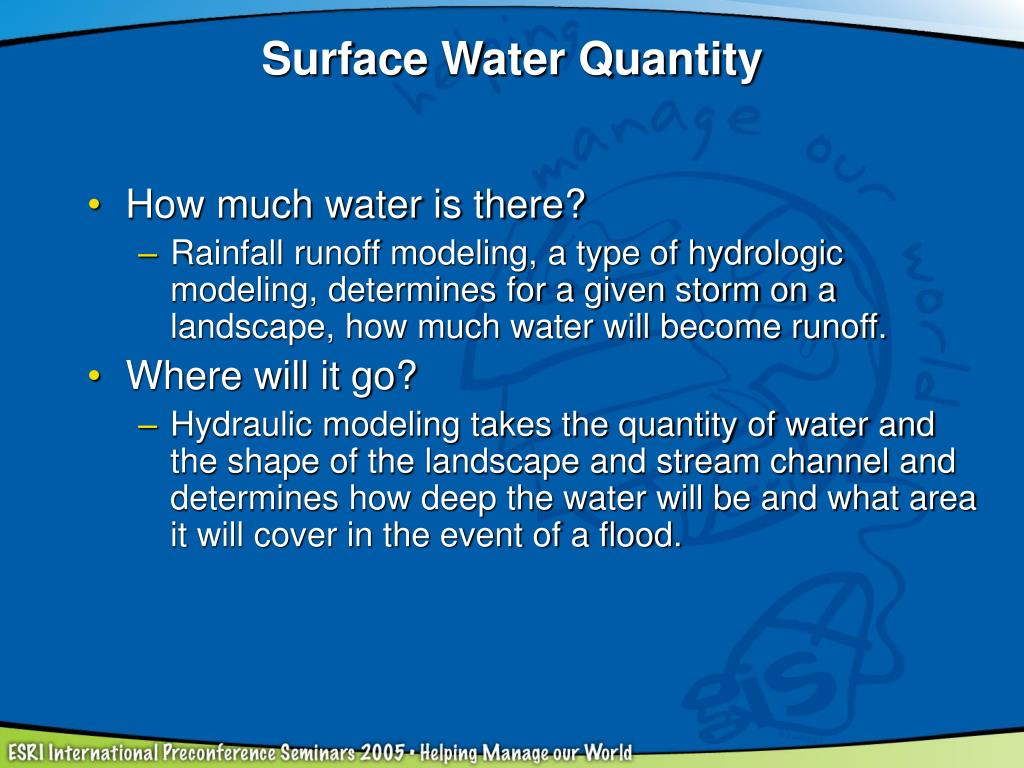 Surface Water Quantity