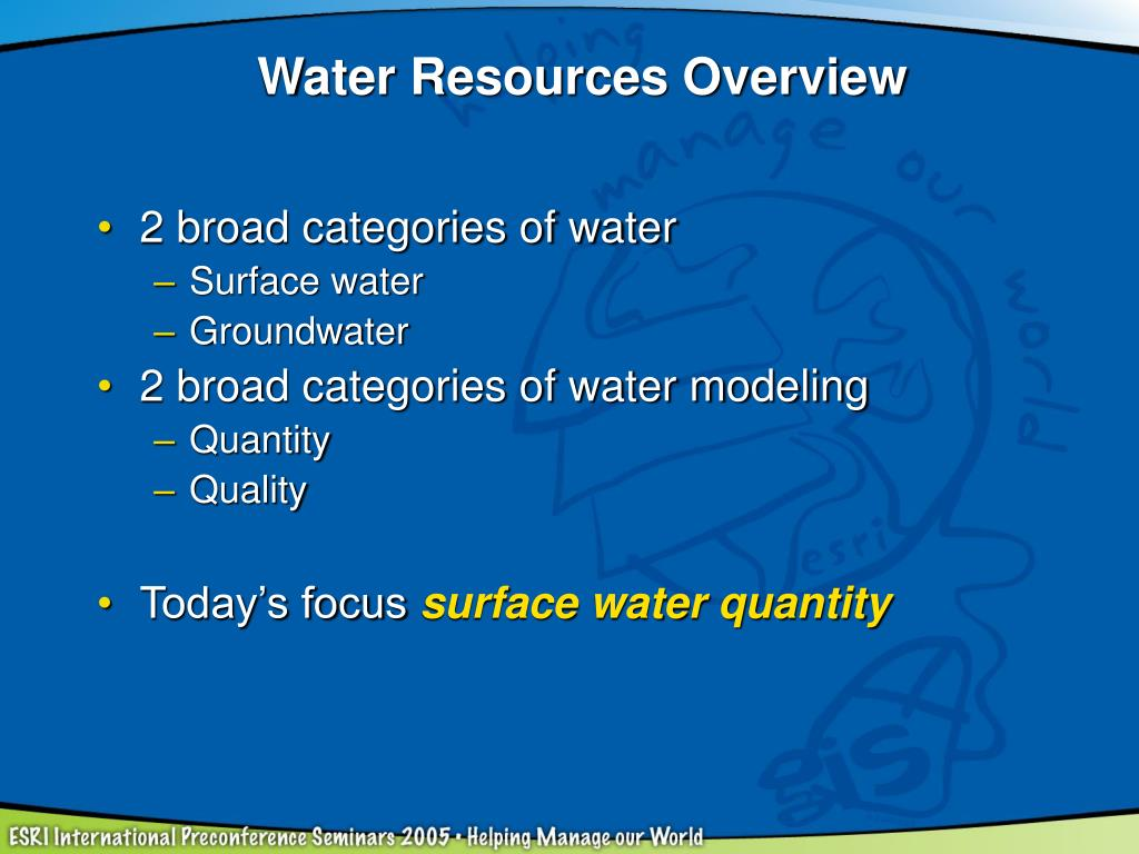 Water Resources Overview