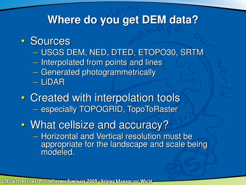 Where do you get DEM data?