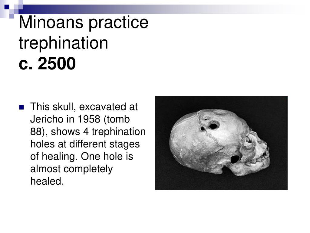 Minoans practice