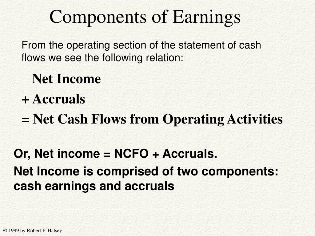 Components of Earnings