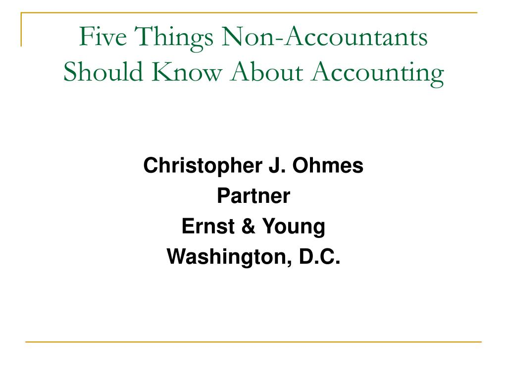 five things non accountants should know about accounting