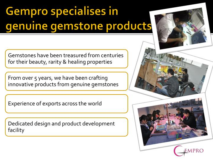Gempro specialises in genuine gemstone products