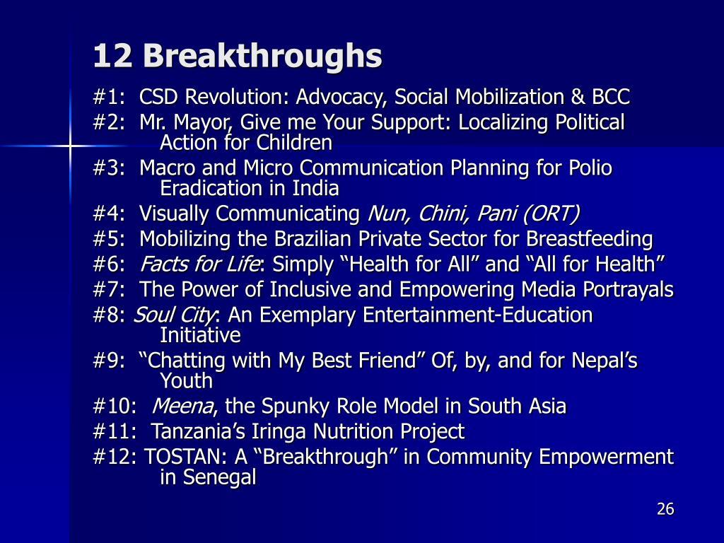 12 Breakthroughs