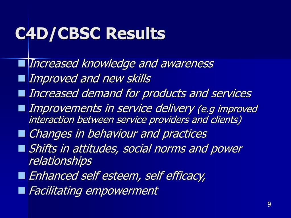 C4D/CBSC Results