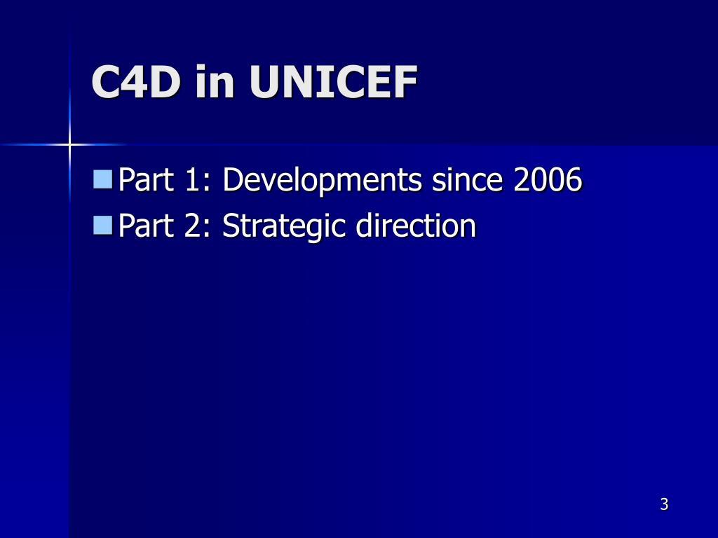 C4D in UNICEF