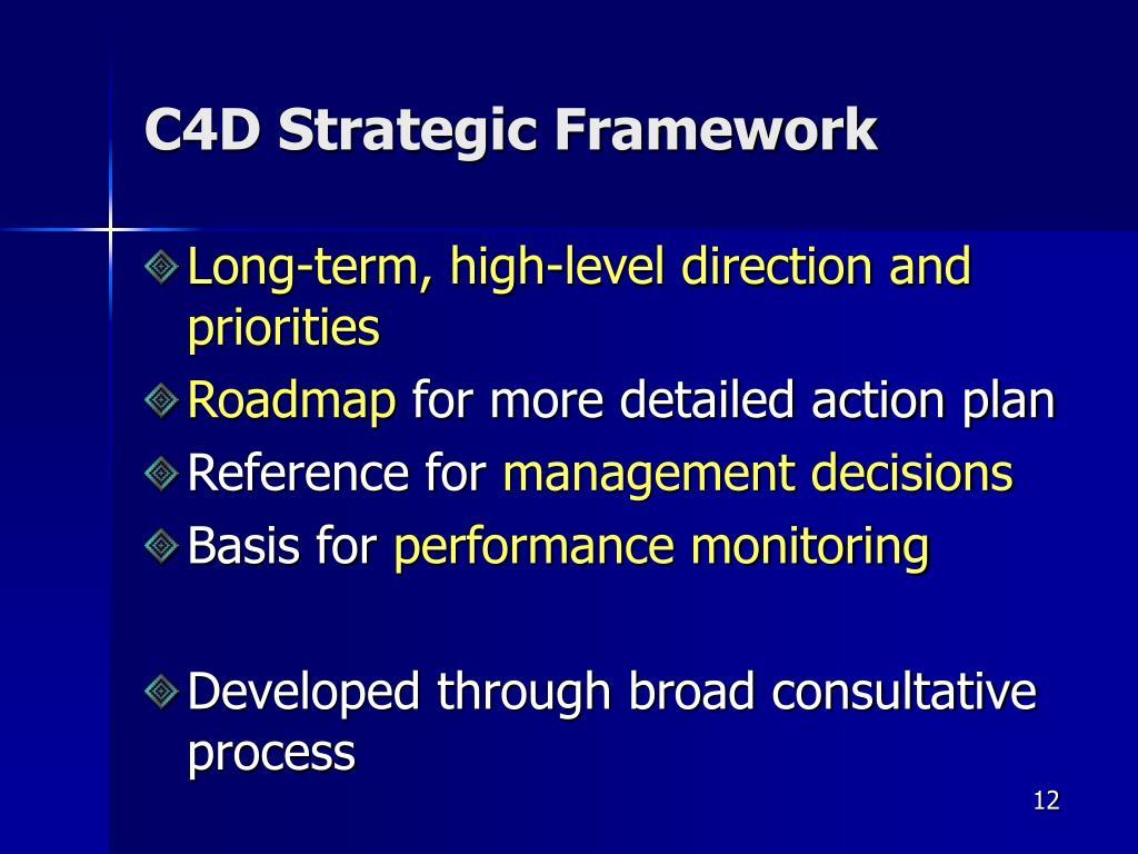 C4D Strategic Framework