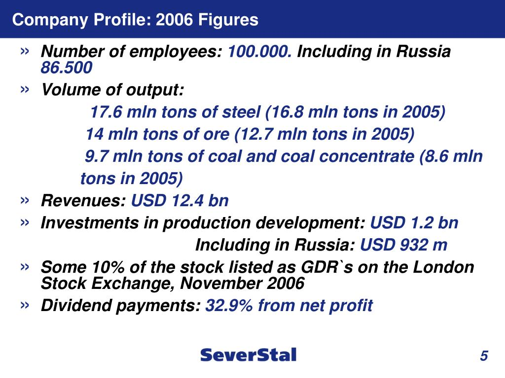 Company Profile: 2006 Figures