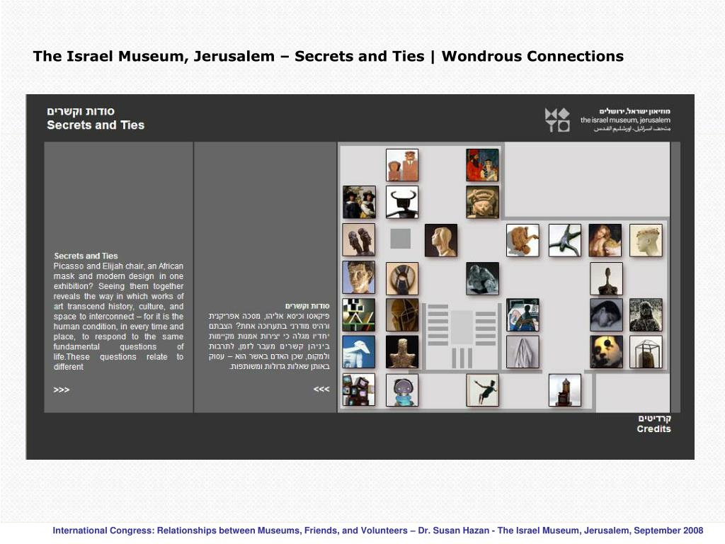 The Israel Museum, Jerusalem – Secrets and Ties | Wondrous Connections