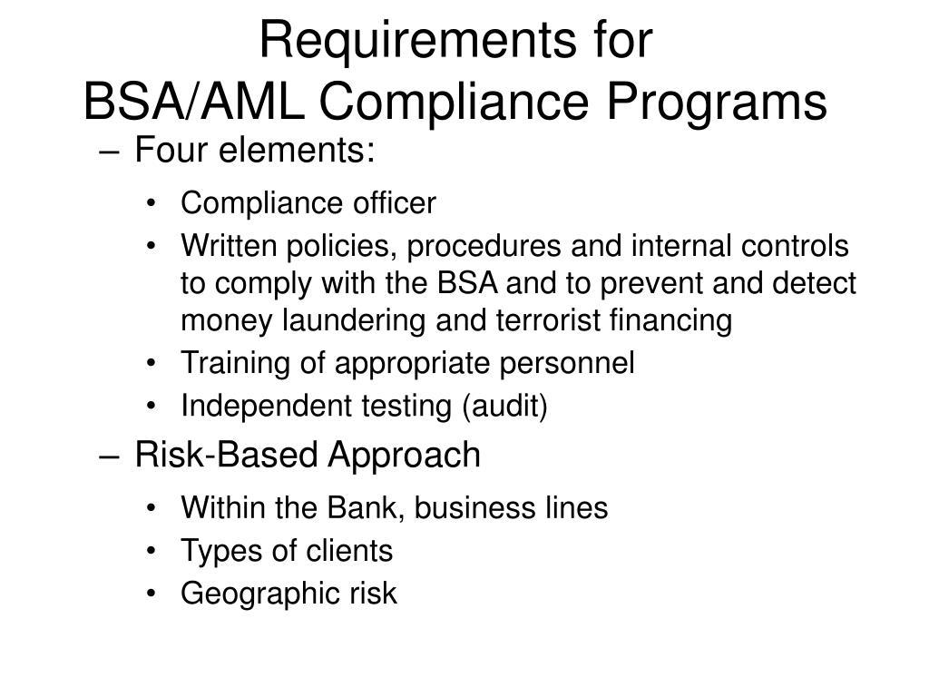 Casino bsa requirements