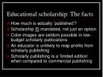 educational scholarship the facts