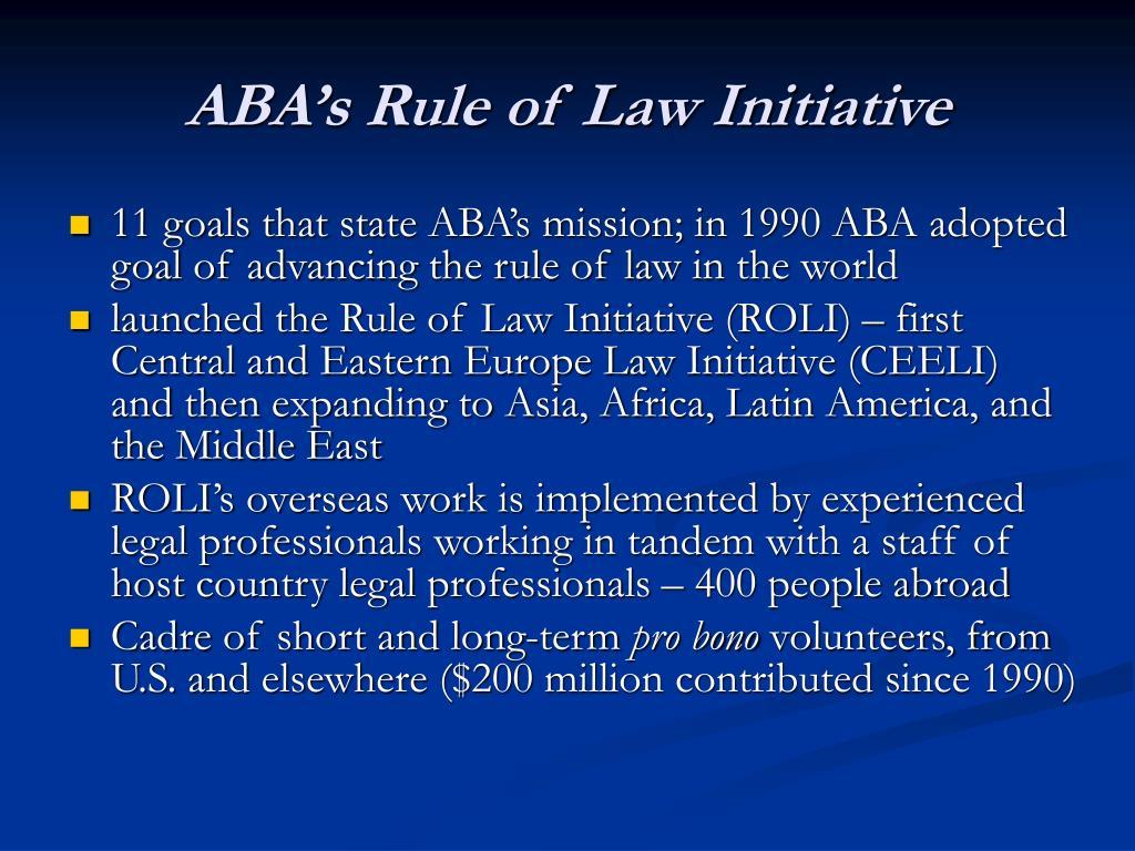 ABA's Rule of Law Initiative