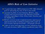 aba s rule of law initiative
