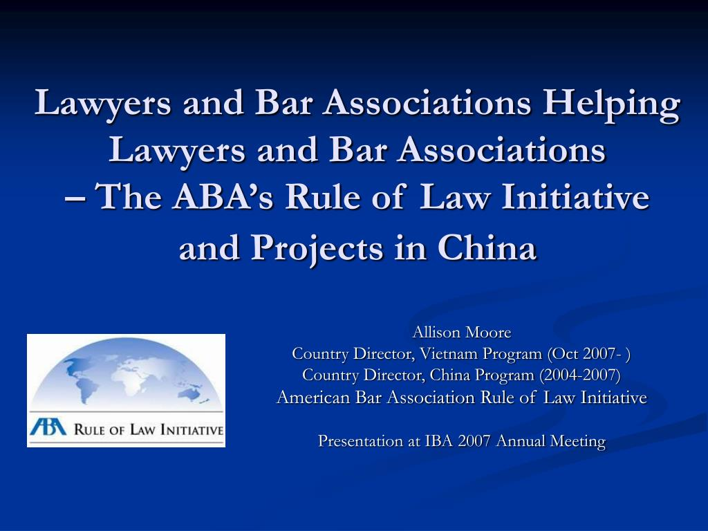 Lawyers and Bar Associations Helping Lawyers and Bar Associations