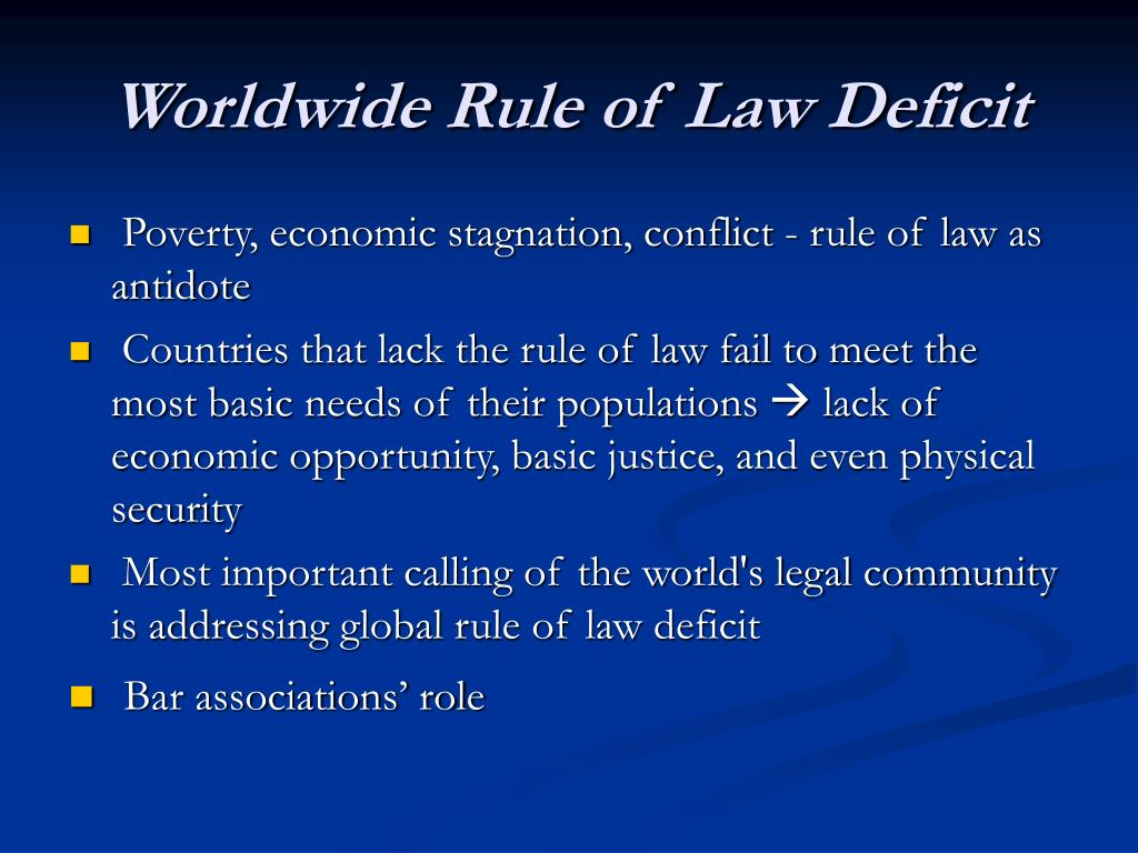Worldwide Rule of Law Deficit