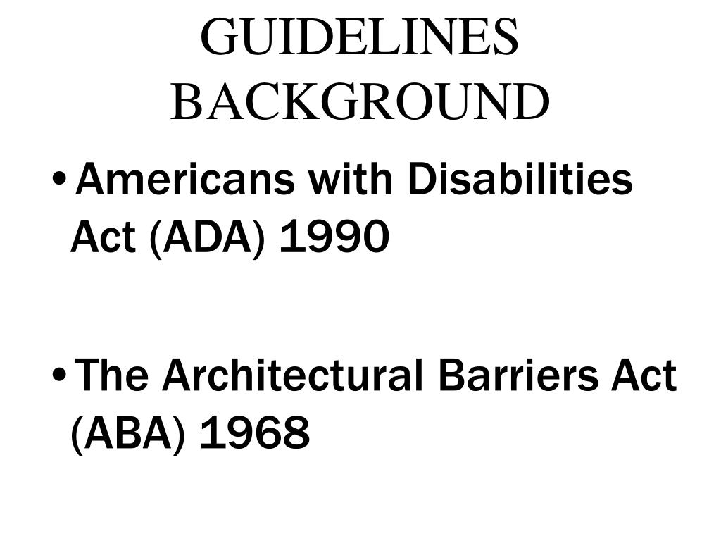 GUIDELINES BACKGROUND