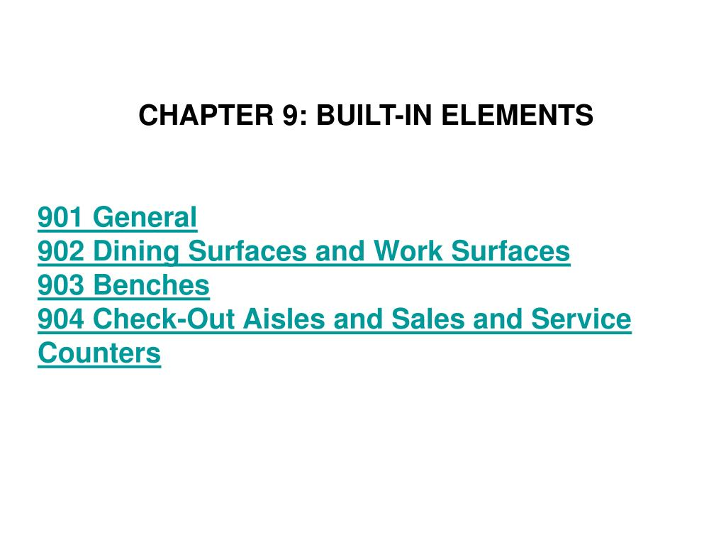 CHAPTER 9: BUILT-IN ELEMENTS