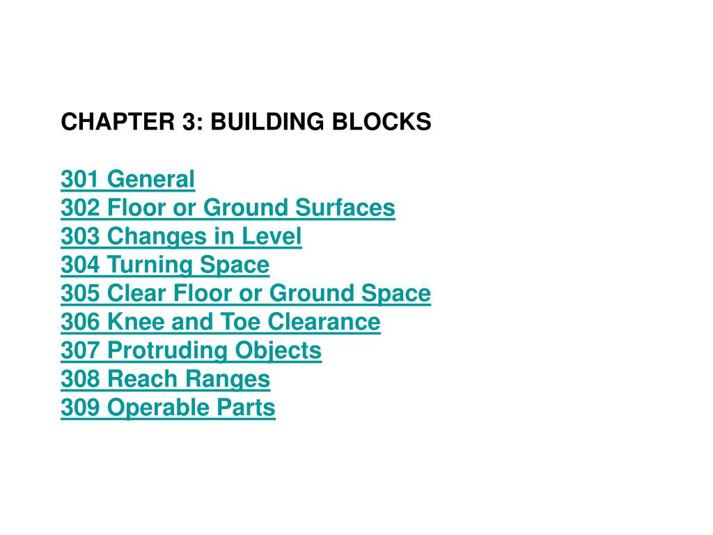 CHAPTER 3: BUILDING BLOCKS