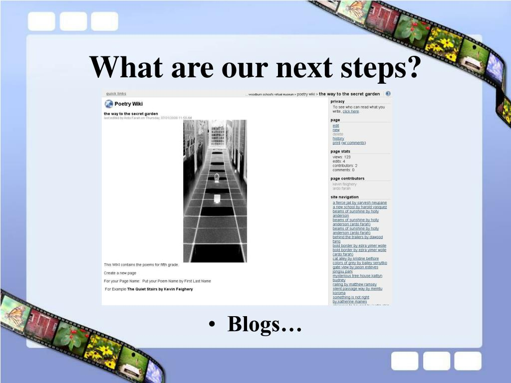 What are our next steps?