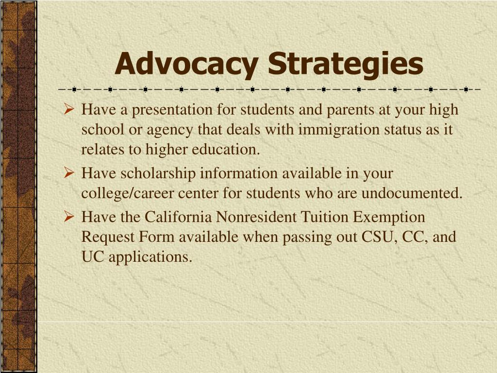 Advocacy Strategies