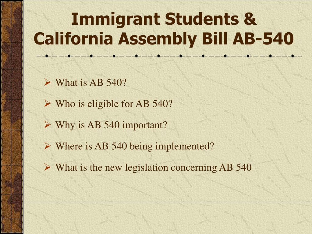 Immigrant Students &