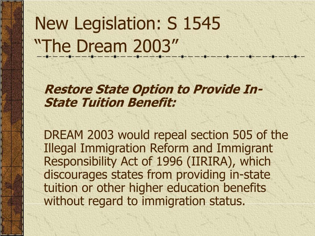 New Legislation: S 1545