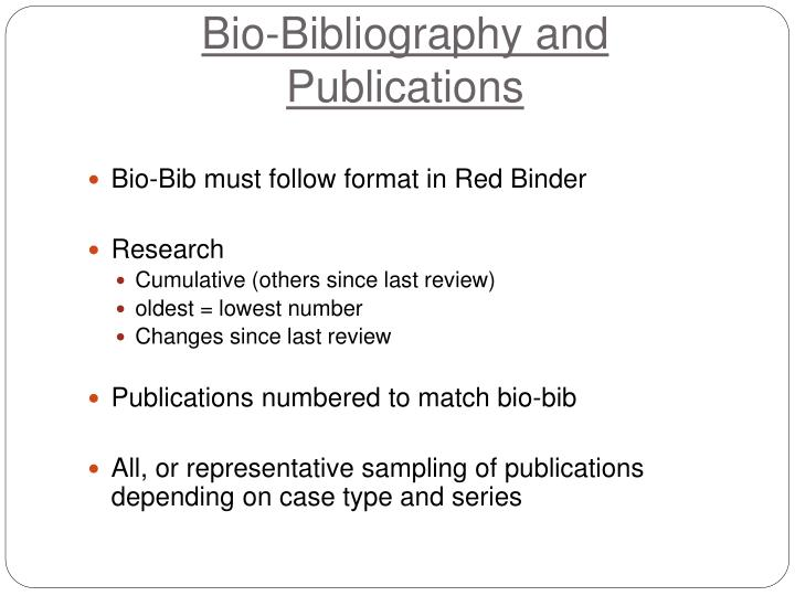 Bio-Bibliography and Publications