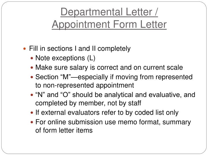 Departmental Letter /