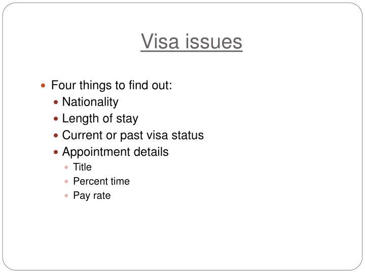 Visa issues
