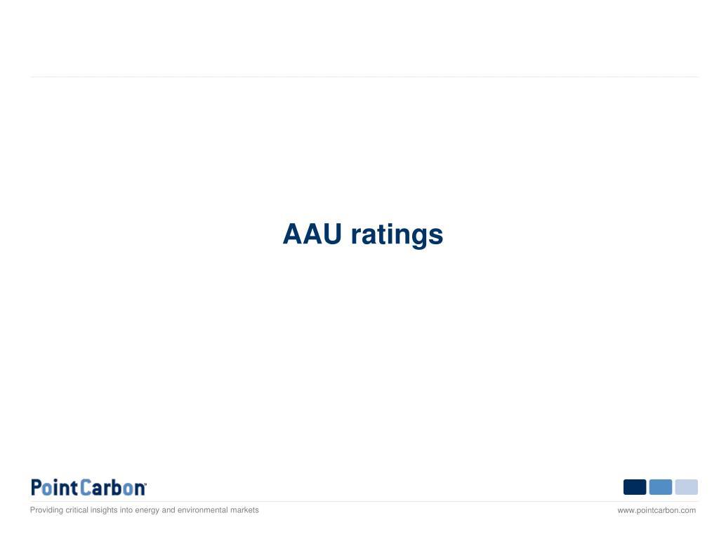 AAU ratings