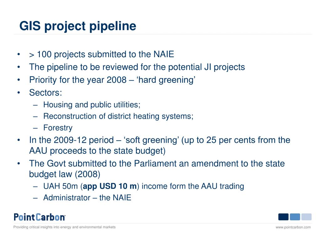 GIS project pipeline
