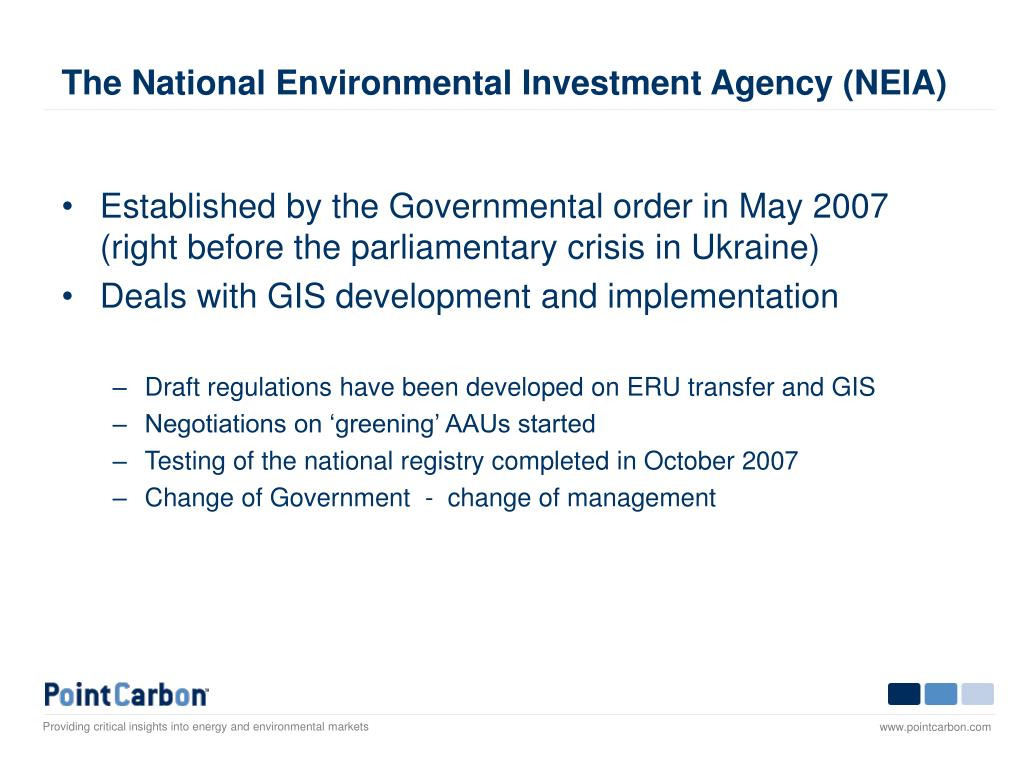 The National Environmental Investment Agency (NEIA)