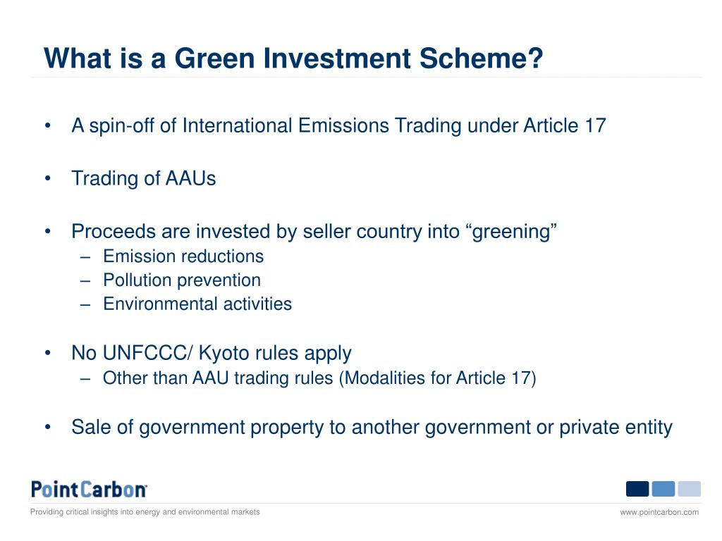 What is a Green Investment Scheme?