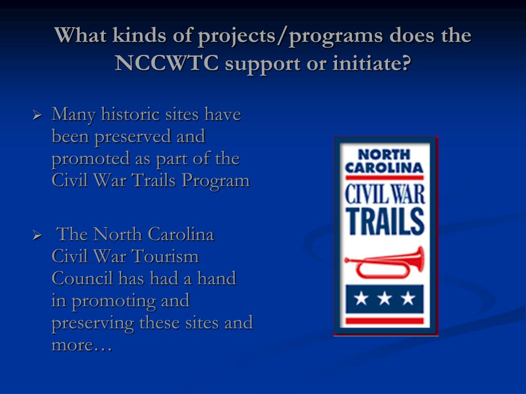 What kinds of projects/programs does the NCCWTC support or initiate?