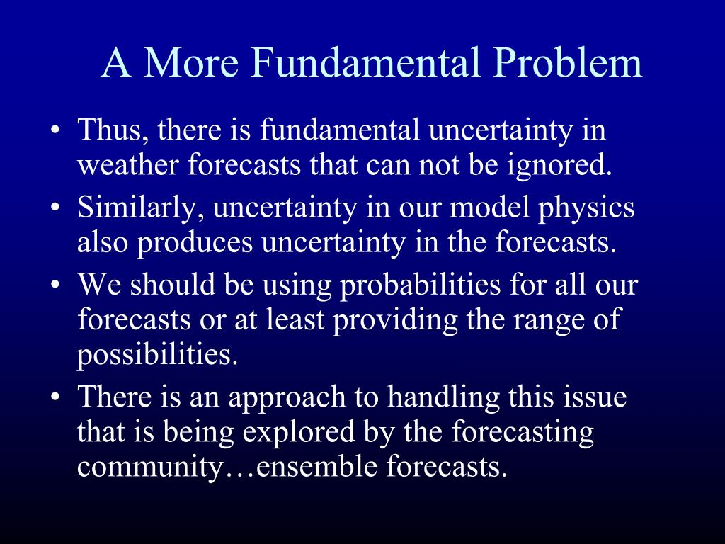 A More Fundamental Problem