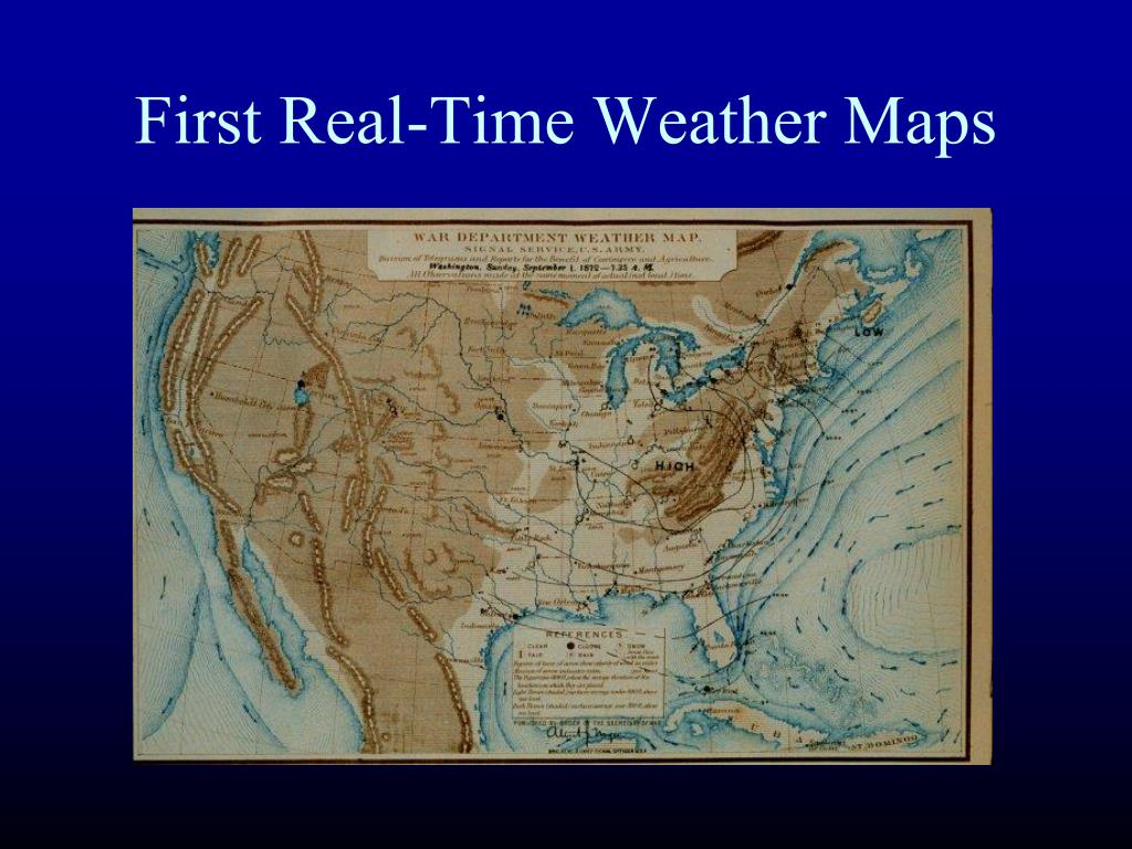 First Real-Time Weather Maps