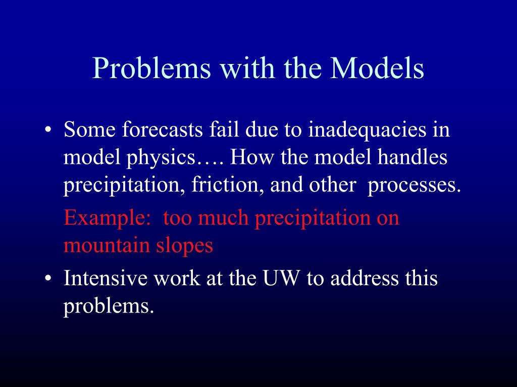 Problems with the Models
