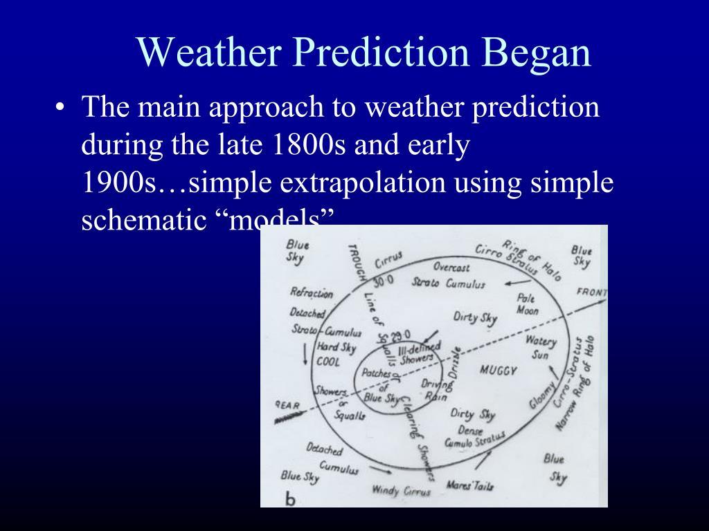 Weather Prediction Began