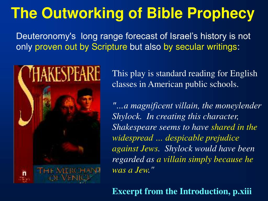 The Outworking of Bible Prophecy