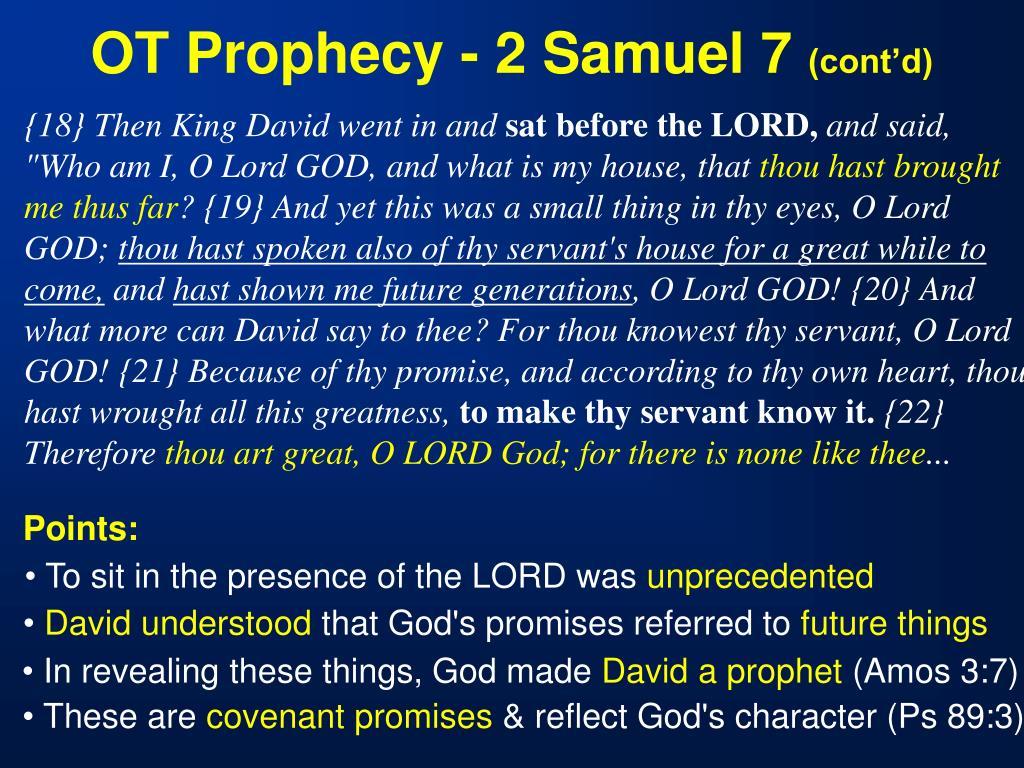 OT Prophecy - 2 Samuel 7
